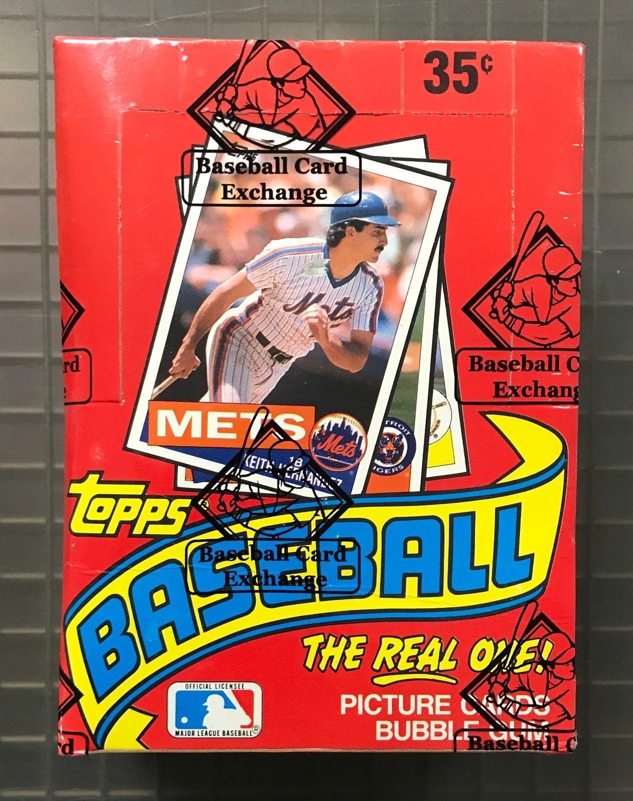 1985 topps baseball unopened wax pack box w 36 packs bbce