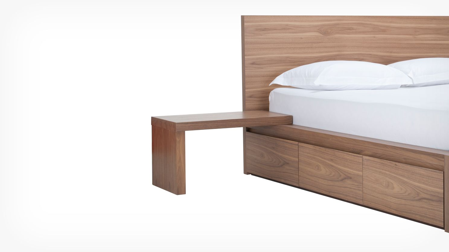 simple bed l nightstand walnut corner w bed & simple bed l nightstand walnut corner w bed | Furniture | Pinterest ...