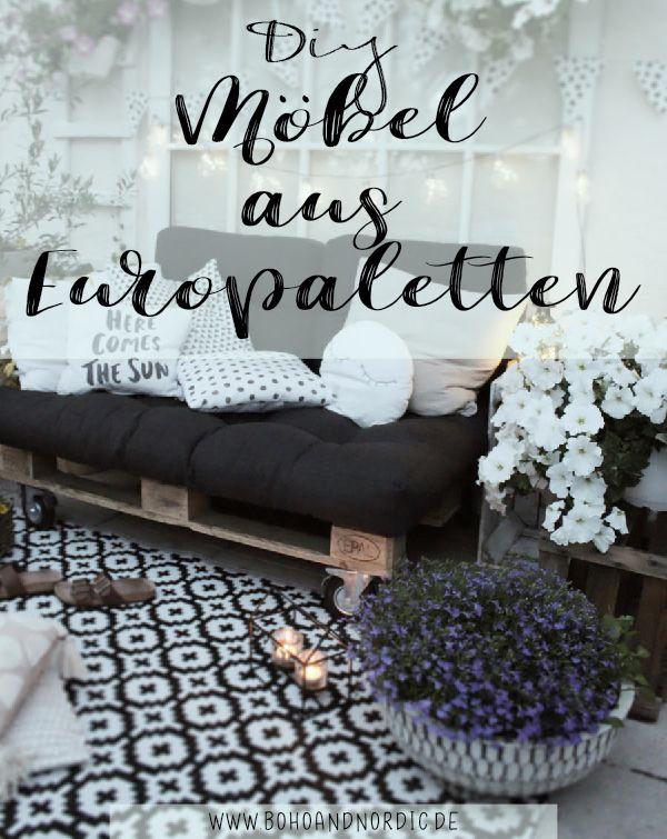 DIY Mbel aus Paletten selber machen  Balkonmbel selber bauen  Ideen von Boho and Nordic