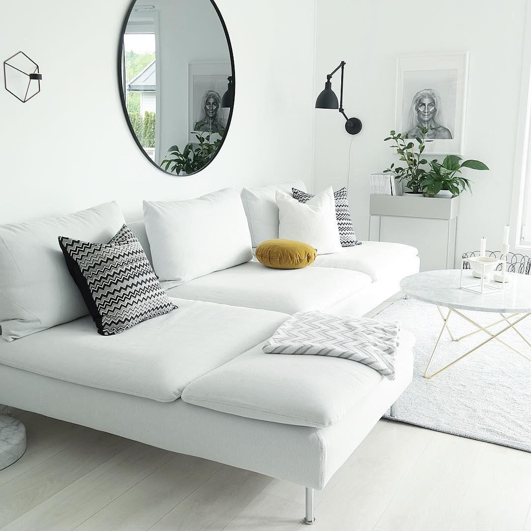 ikea 39 s derhamn 39 sofa hannenov inredning pinterest vardagsrum inredning och heminredning. Black Bedroom Furniture Sets. Home Design Ideas