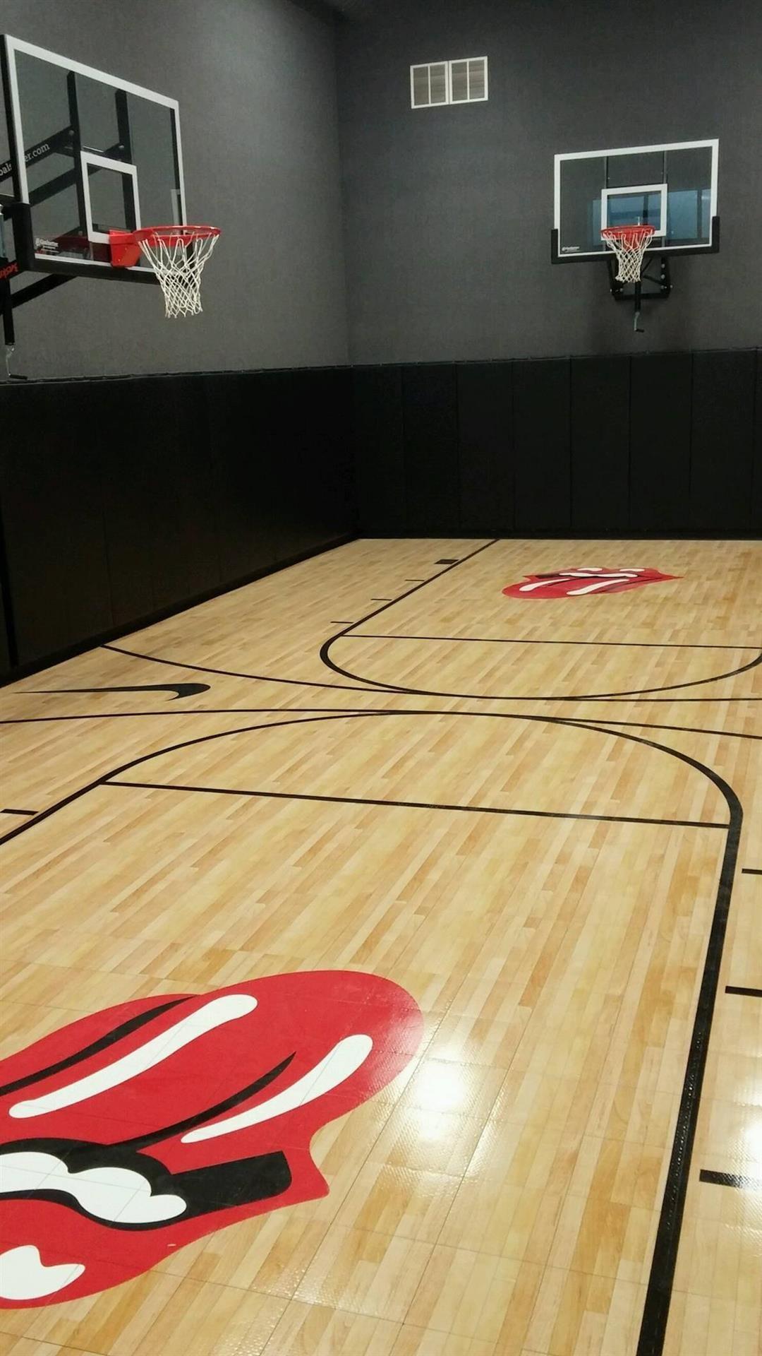 Indoor Home Gym Gallery Basketball room, Indoor batting