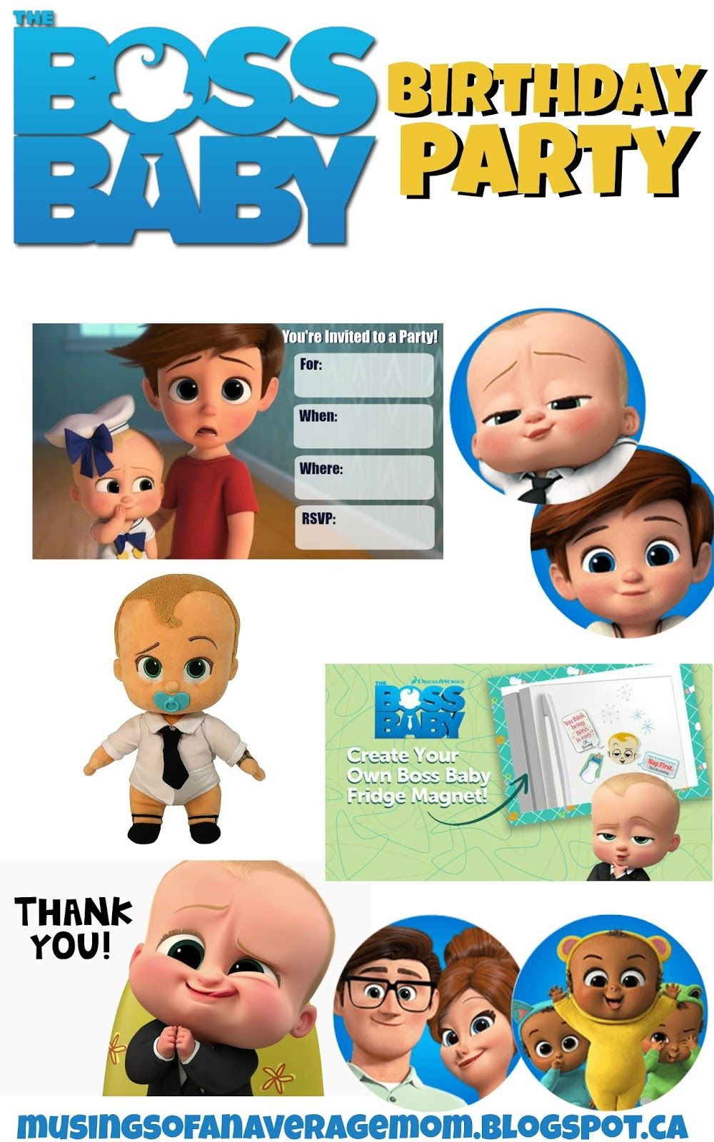 Boss Baby Cupcake Toppers Crafts Pinterest Boss Baby Baby
