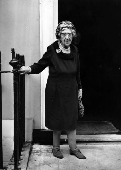 1970: Agatha Christie on her 80th birthday. Dame Agatha Mary Clarissa Christie, DBE (née Miller; 1890-1976)