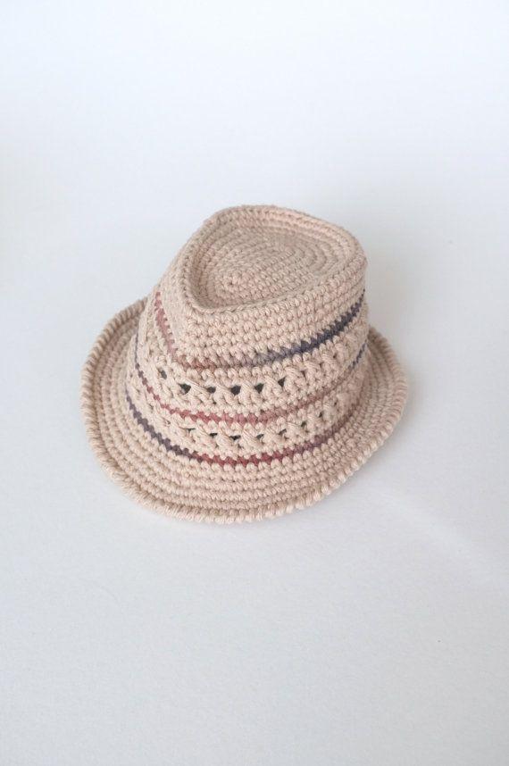 Fedora sombrero y pajarita conjunto ganchillo para por milazshop ...