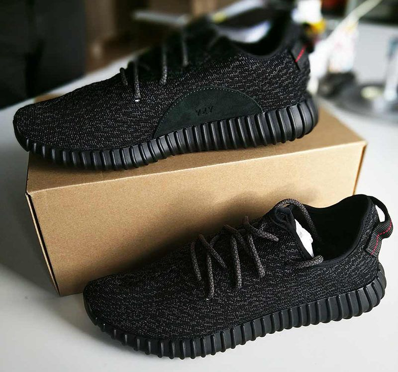 Perfect Replica Final Fixed Yeezy 350 'priate black' real