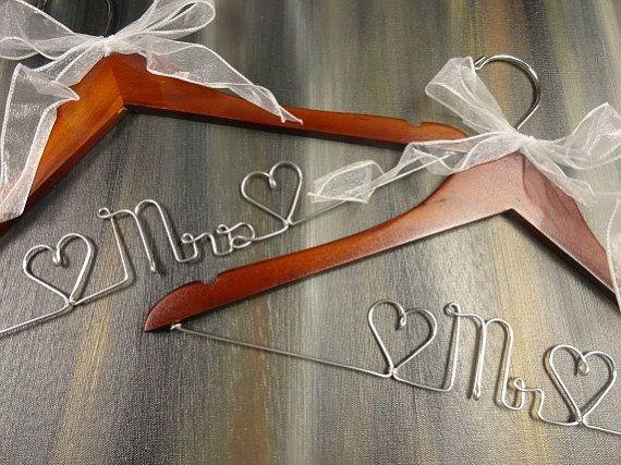 Mr and Mrs Hangers Wedding Dress Hangers by OriginalBridalHanger ...