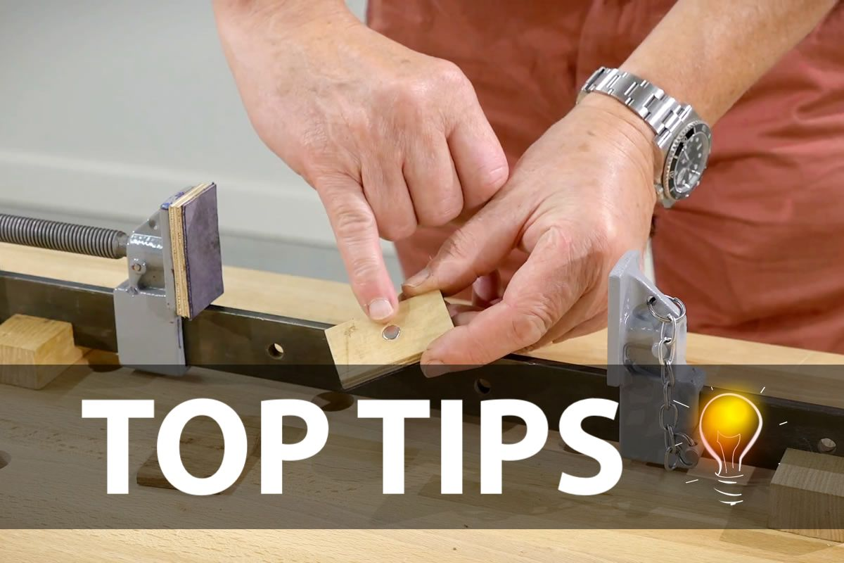 Apart from your sash clamps falling over, the other infuriating thing is that clamping blocks never, ever seem to stay where they're put. No matter how hard you try, they slip and slide about&#8230…