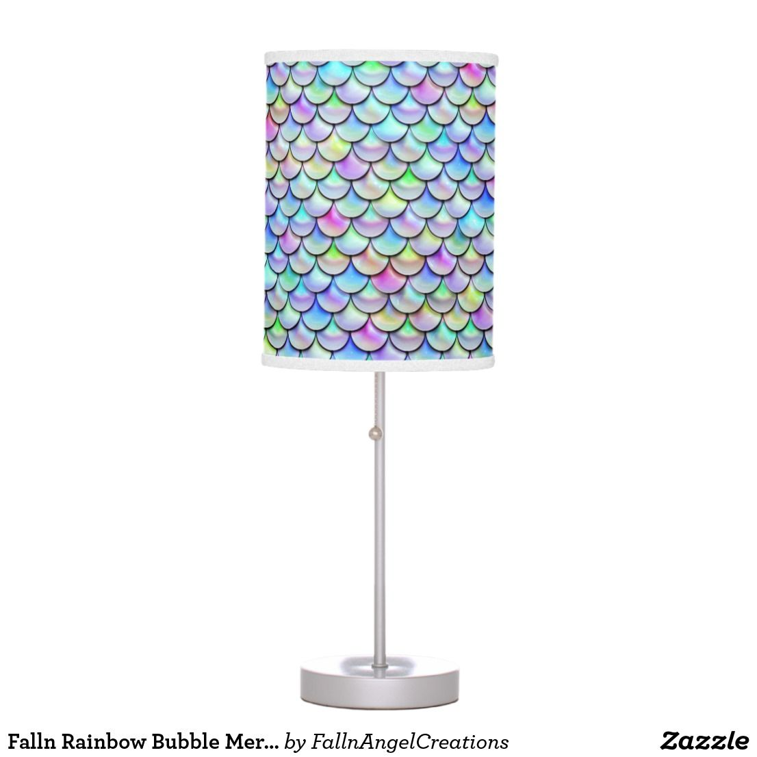 Falln Rainbow Bubble Mermaid Scales Table Lamp | Zazzle.com
