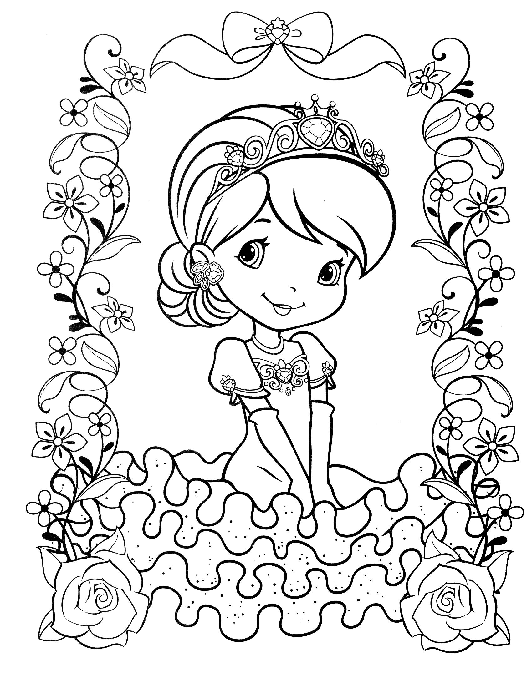 Strawberry Shortcake Coloring Page Cartoon Coloring Pages