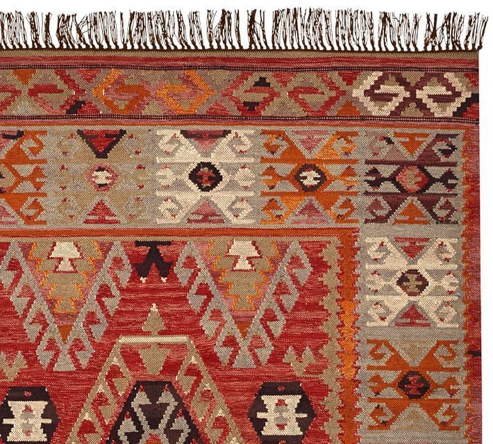 Pottery Barn Cyndy Kilim Rug 8 X 10 New Indoor Outdoor