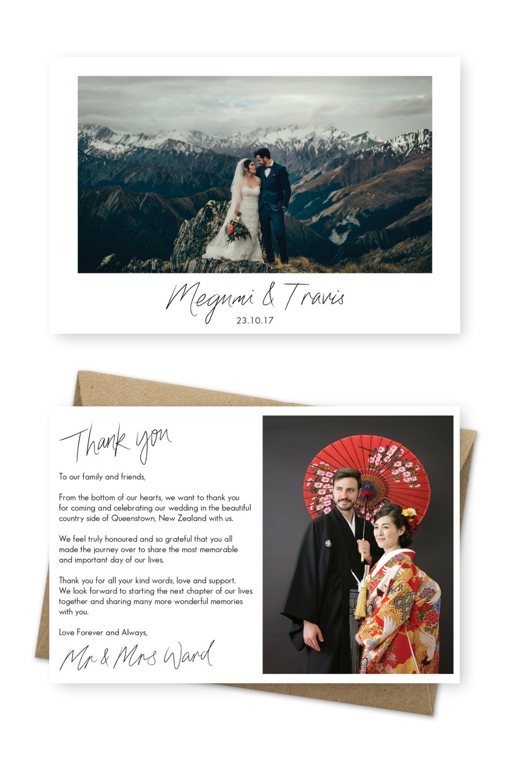 Wedding Thank You Cards With Photo Thank You Card Template Etsy Wedding Thank You Cards Photo Thank You Cards Thank You Cards