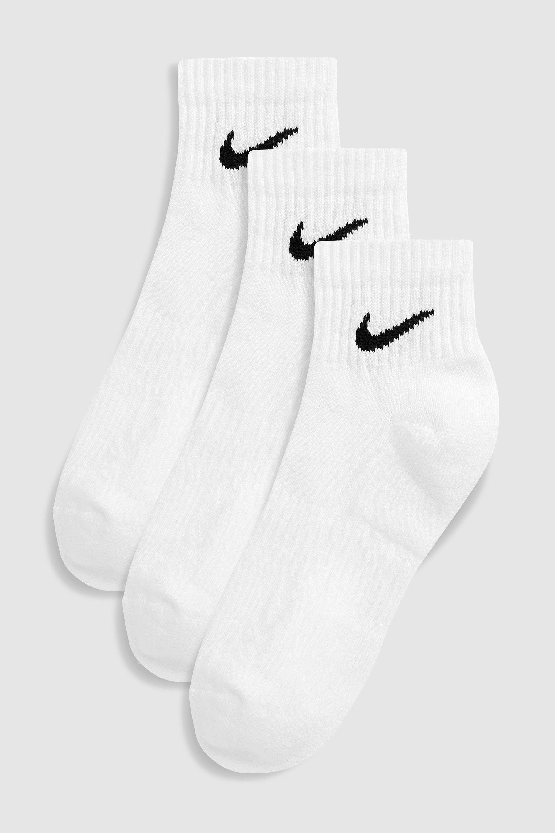Buy Nike White Cushioned Ankle Socks Three Pack from the ...