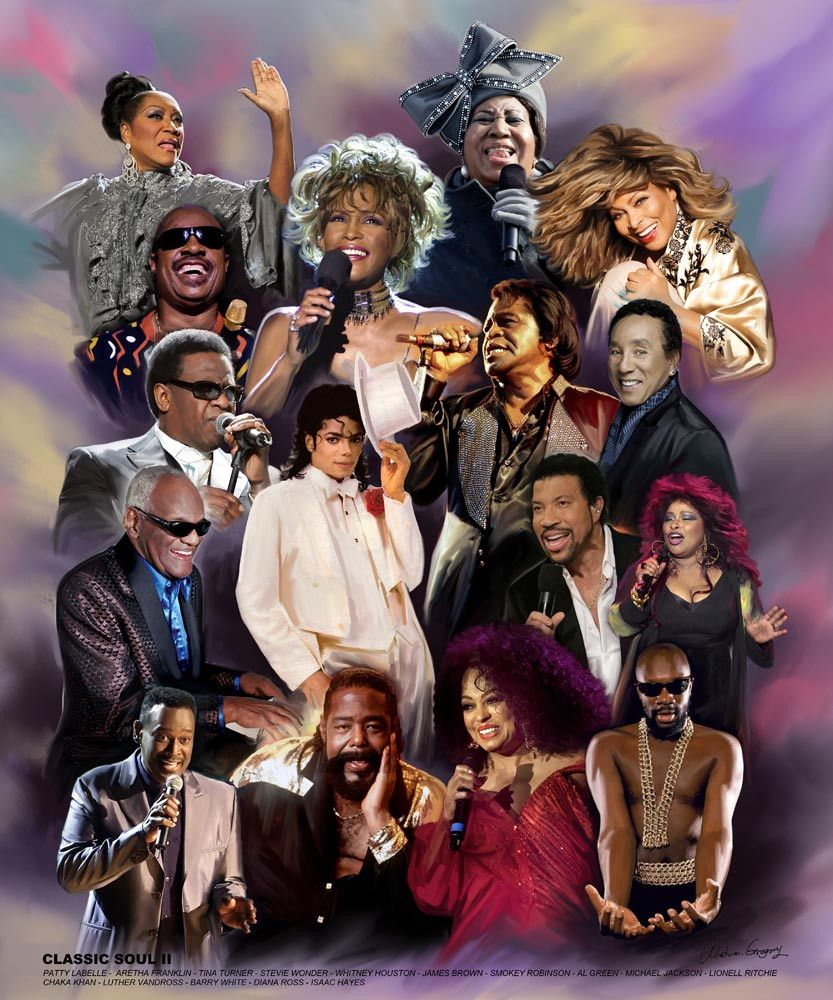 soul classic gregory singers ii wishum american african artists jackson michael famous history whitney music pop artwork montage houston hop