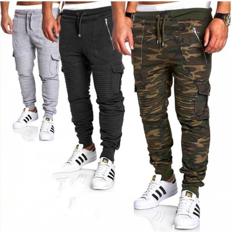 d62668e341 Men Pants 2018 New Fashions Joggers Pants Male Casual Sweatpants  Bodybuilding Fitness Track Pants Men s Sweat
