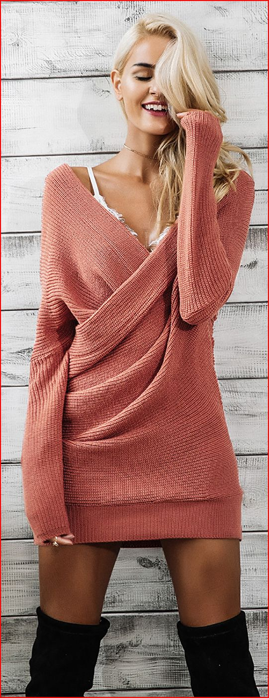 Fall Spice Sweater Dress #sweaterdressoutfit