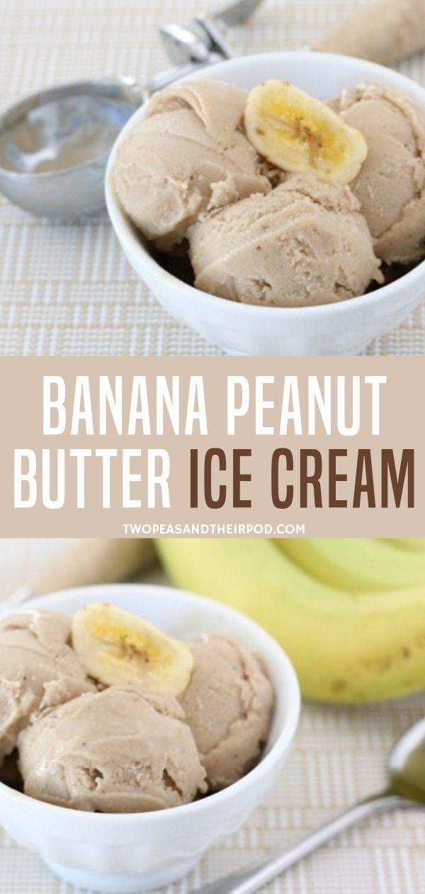 Banana Ice Cream with Peanut Butter