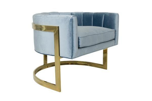 Ibiza Arm Chair In Ice Blue Modern Occasional Chairs Blue Armchair Chair