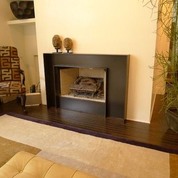 blackened steel fireplace surround design ideas pictures remodel and decor