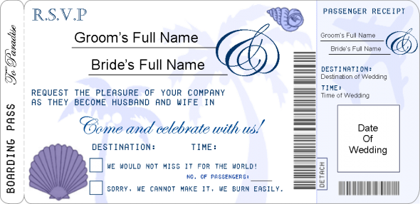 My Finalised Boarding Pass Rsvp Template Wedding Boarding Pass Diy