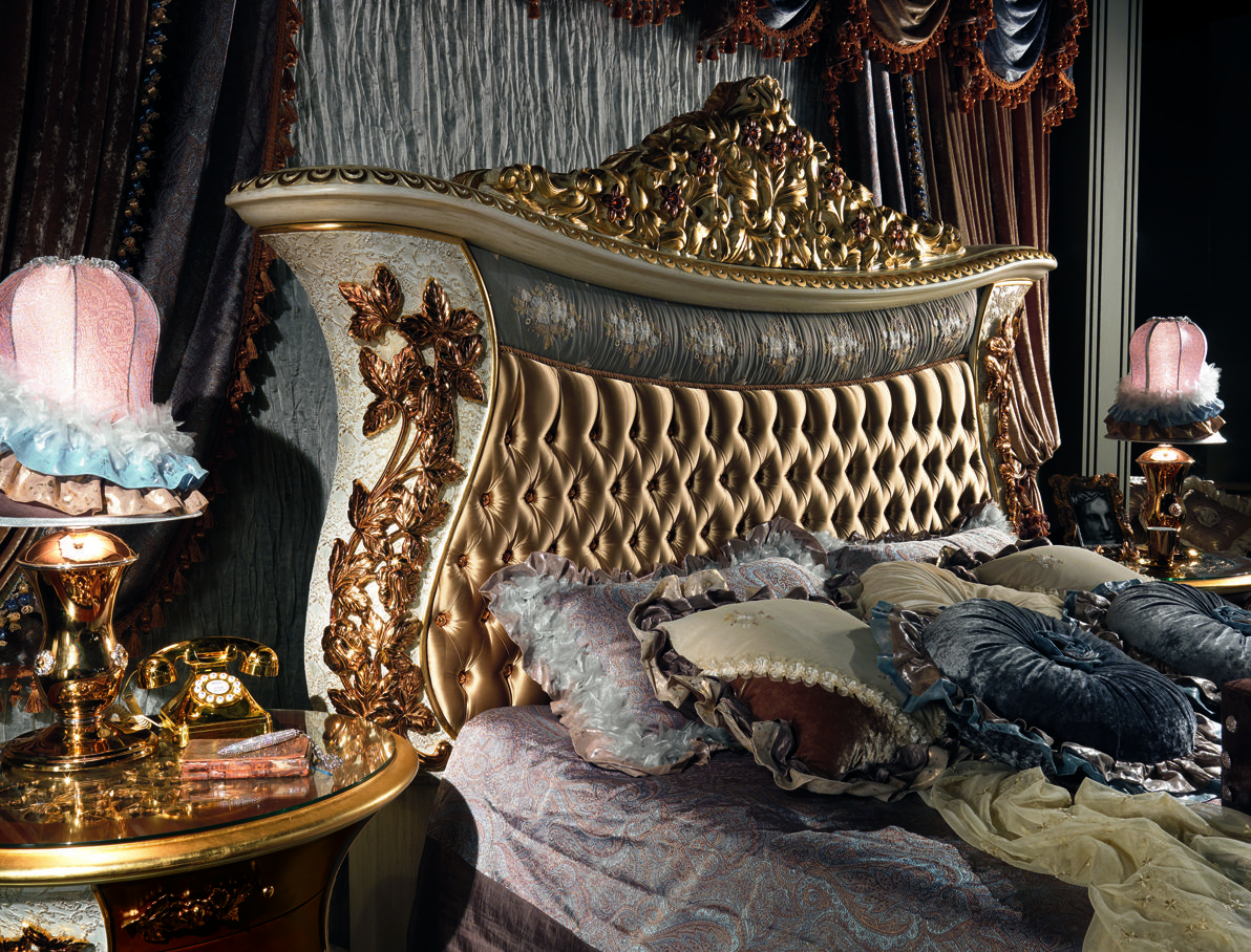 Bed From The Charme Collection By Cappelletti Italy Bed With Upholstered Panel And Brass Detai Luxury Bedroom Design Luxurious Bedrooms Bathroom Design Luxury Gold plated luxury bedroom