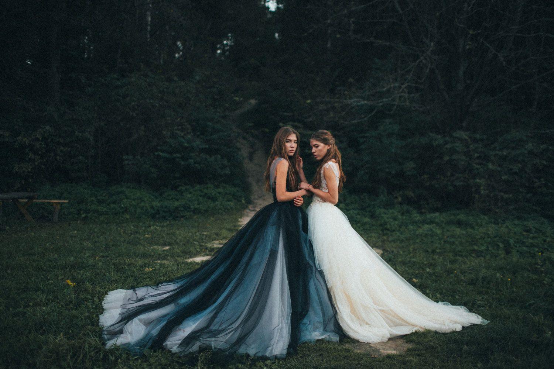 Calypso Nightfall // Volumetric black tulle gown by MywonyBridal ...