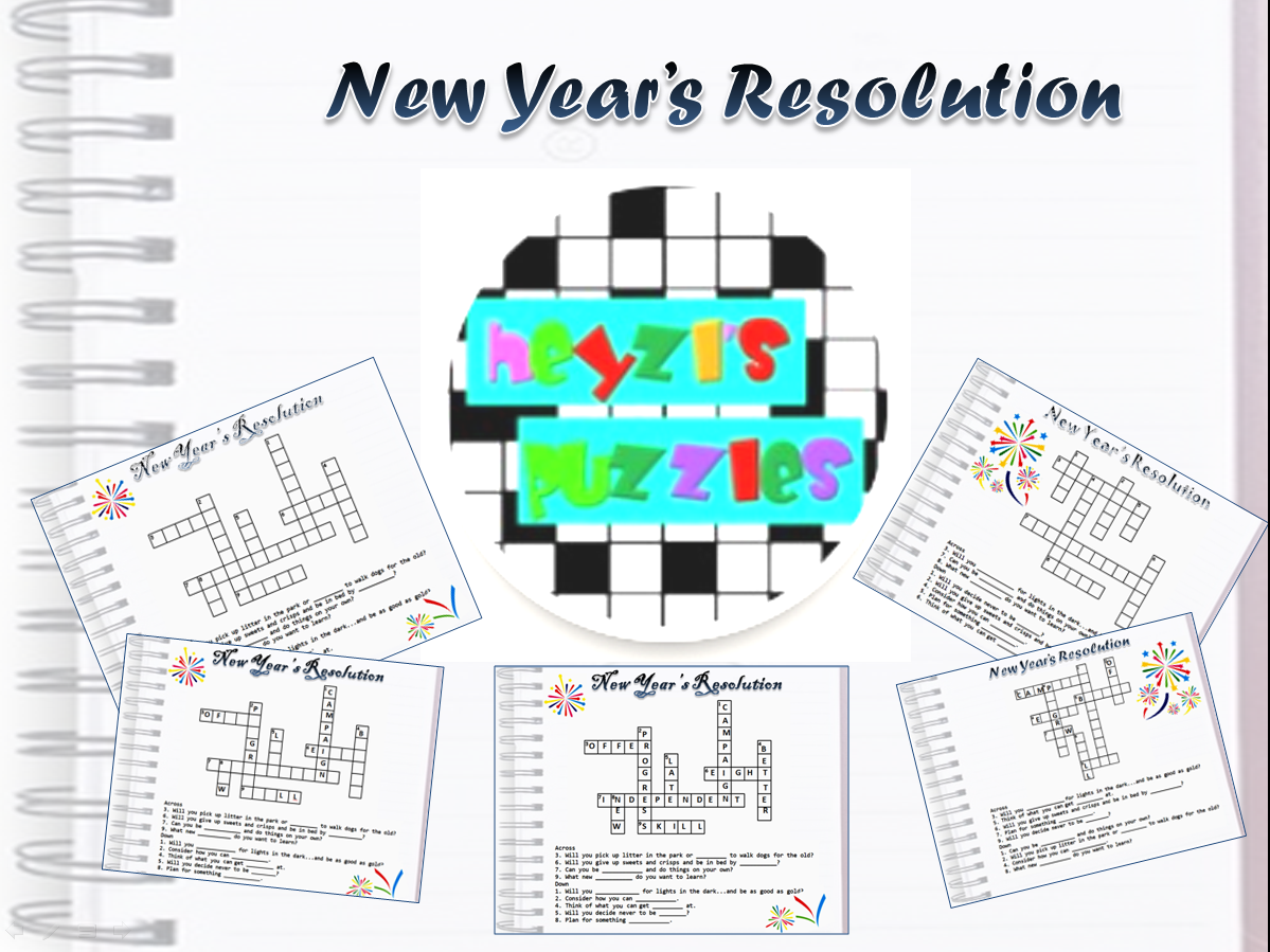 New Year S Resolution Starter Activity Worksheet Only At