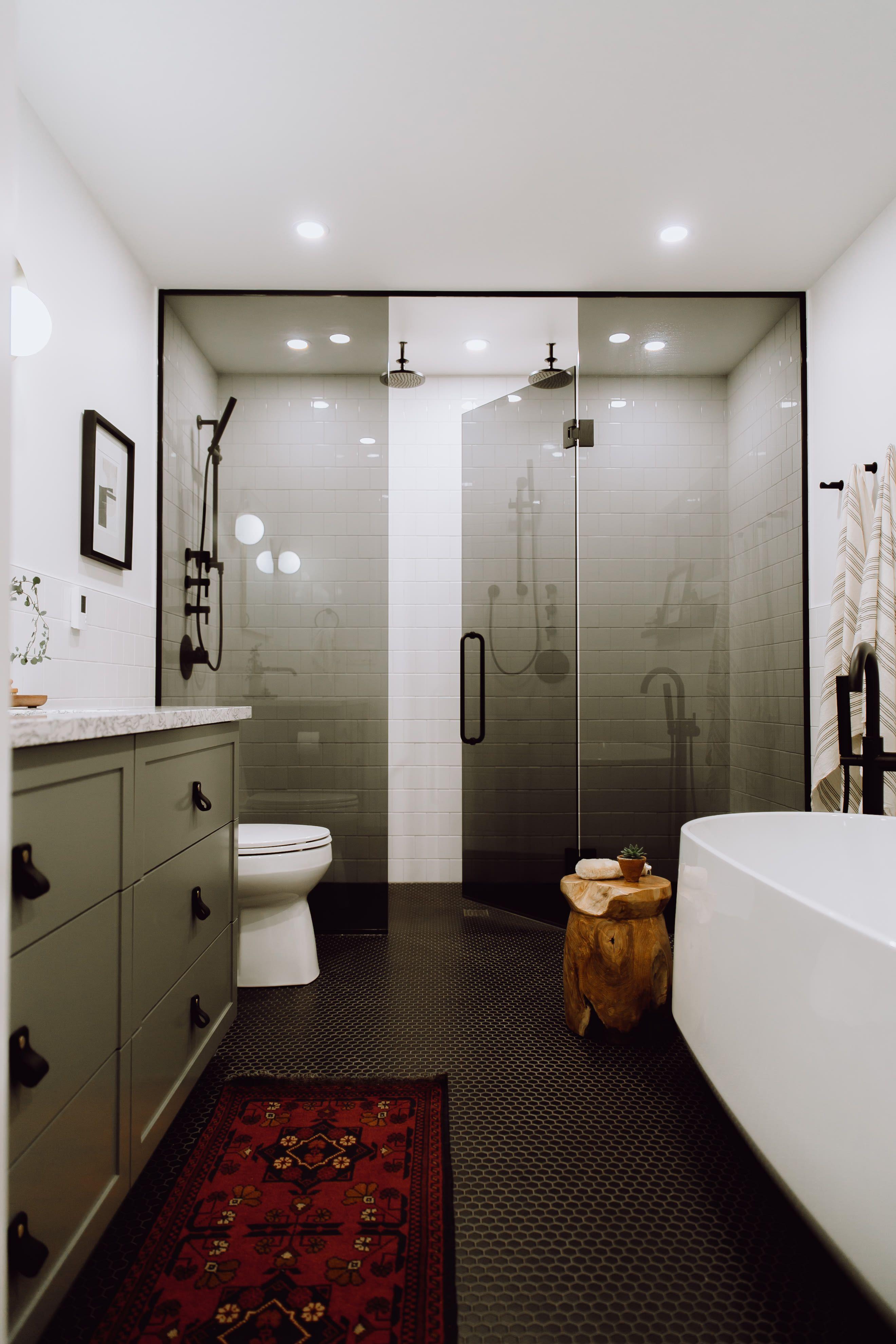 Tour A Winnipeg Before And After Inspired By Scandinavian Design Glass Shower Enclosures Dream Bathrooms Modern Bathroom Design