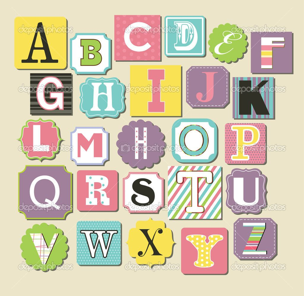 Cute Alphabet Single Letters Designs Cute Alphabet Design Vector