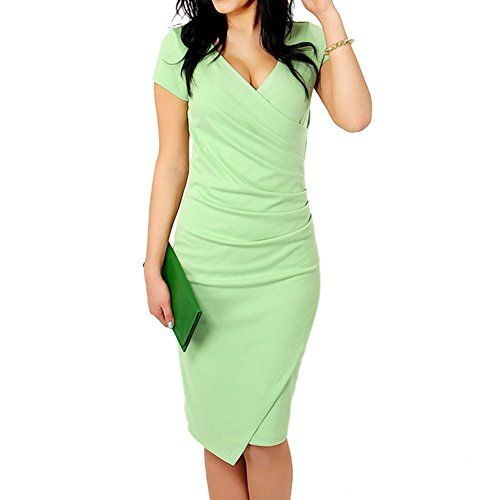 Mexi Women's V neck Pencil Formal Work Dress X-Large, Green Mexi http://www.amazon.com/dp/B016EDP33U/ref=cm_sw_r_pi_dp_6sigwb138GNQJ