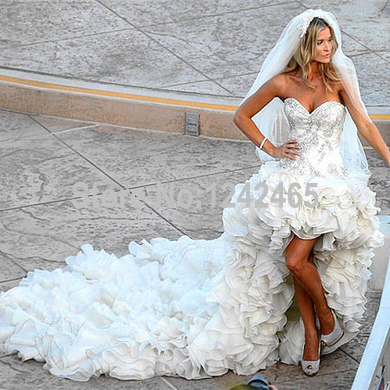 Find More Wedding Dresses Information about Asymmetrical Sweetheart ...