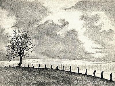 Landscape Pencil Drawings