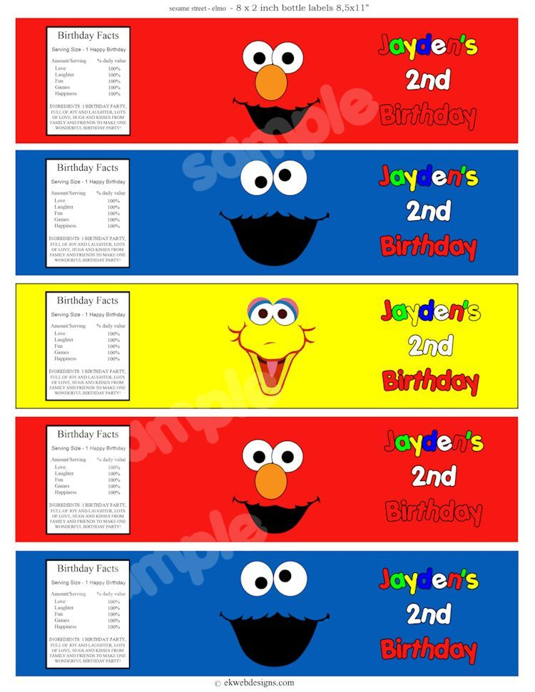 Cookie Monster Water Labels Free Printable Cookie Monster Water