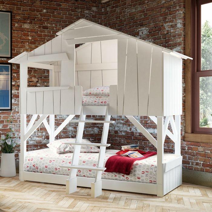 lit cabane enfant en 2 étages | Lit | Pinterest | Lit cabane ...
