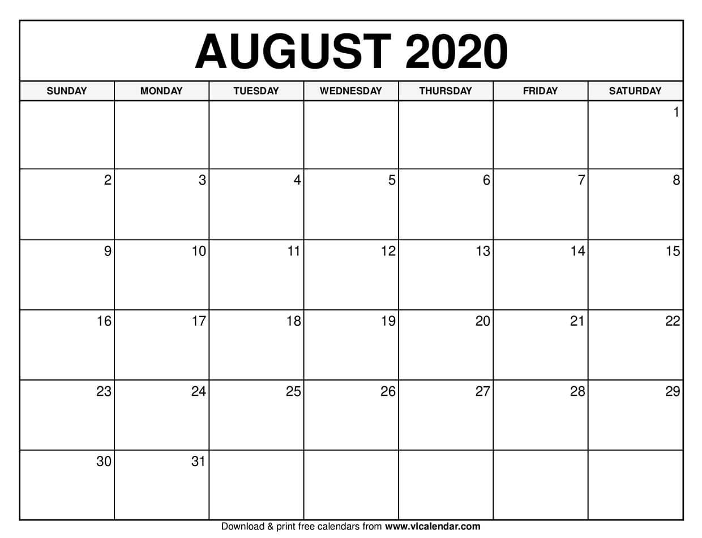Pin By Vannav On All In 2020 Calendar August Calendar Free Calendars To Print