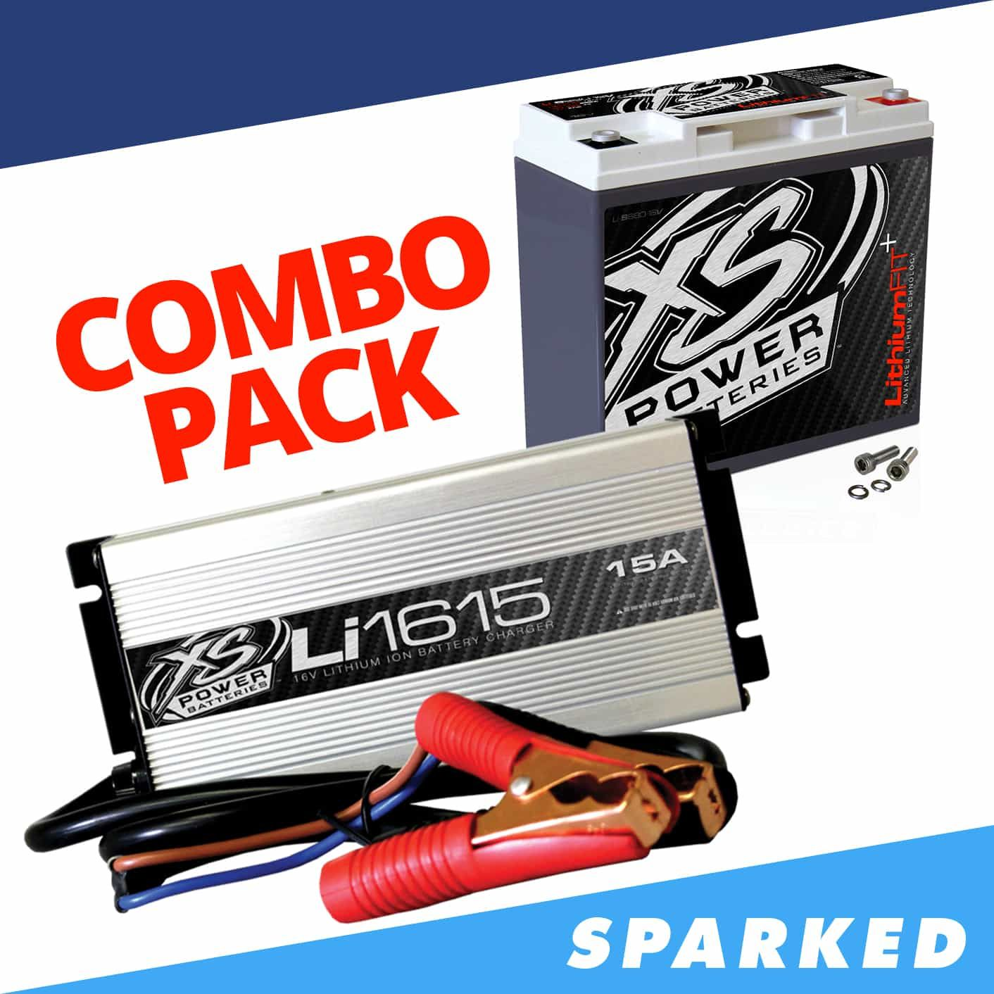 Li S680 16ck Xs Power Li S680 16 16v Lithium Battery Li1615 15a 16v Intellicharger Combo Sparked Innovations Lithium Battery Combo Battery