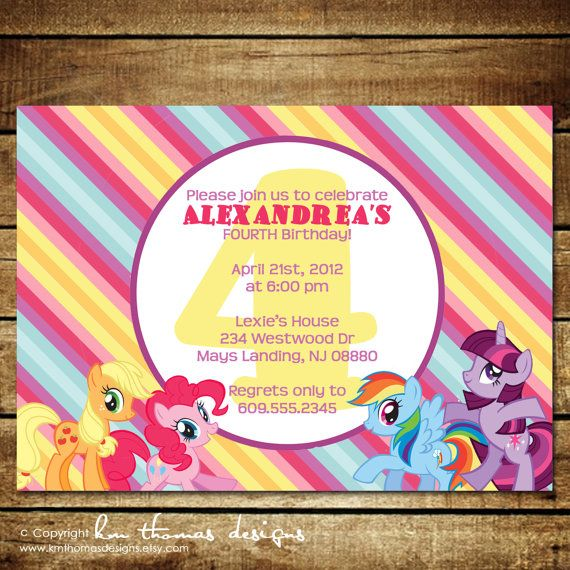 My little ponystom printable birthday invitations km custom printable birthday invitations km thomas filmwisefo Images