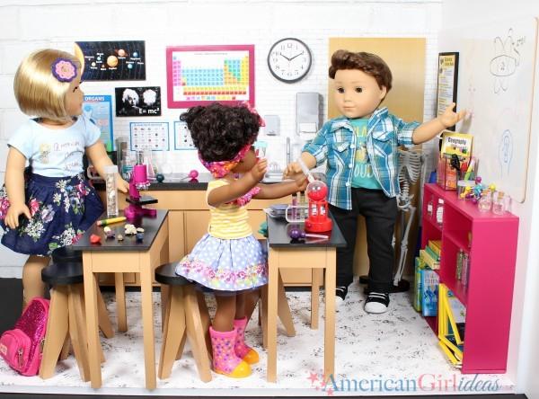 DIY American Girl Dollhouse Science Lab Classroom • American Girl Ideas | American Girl Ideas #americangirlhouse