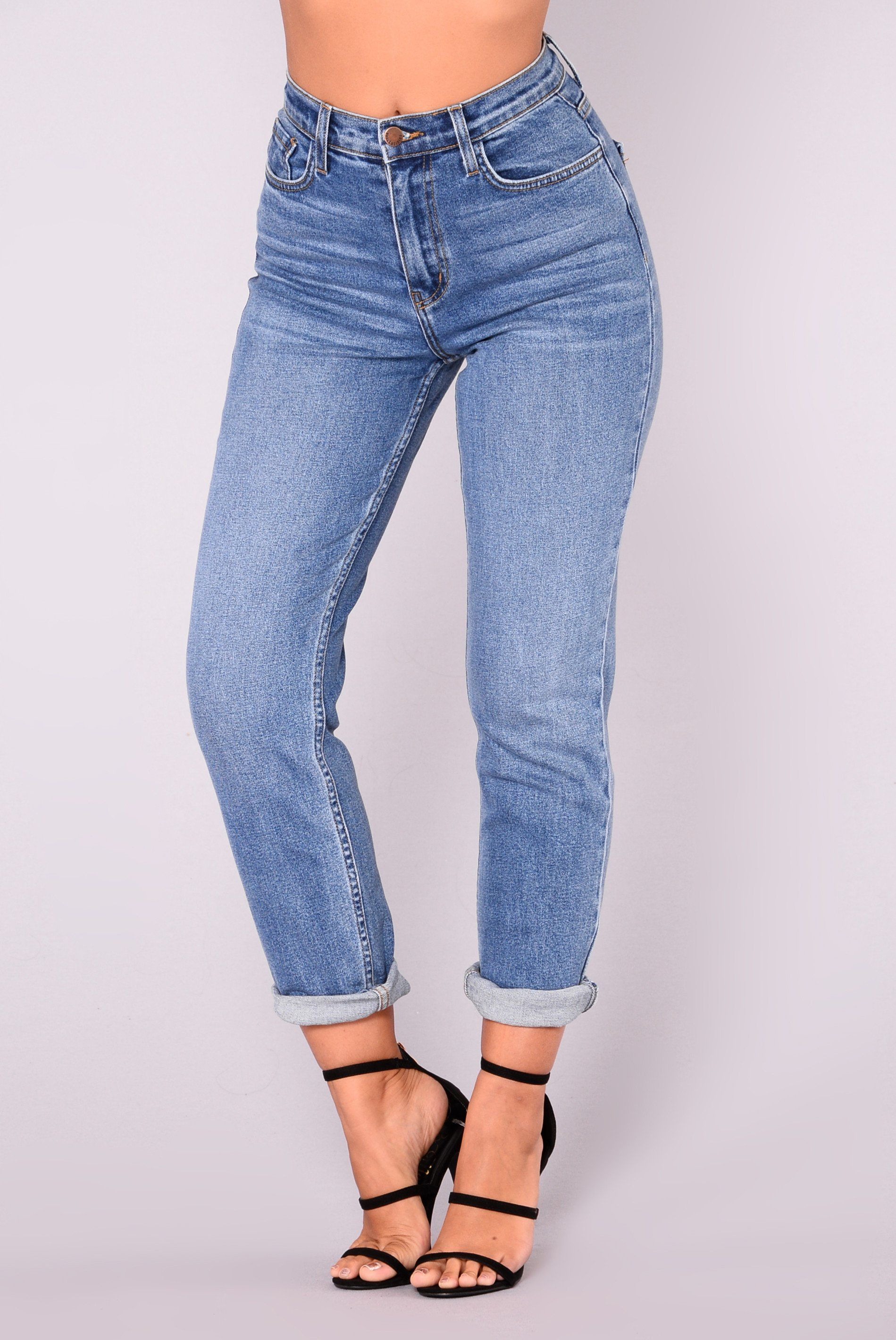 99c4f42cf Available In Medium Stretchy Fit Mom Jeans High-Rise 99% Cotton 1% Lycra