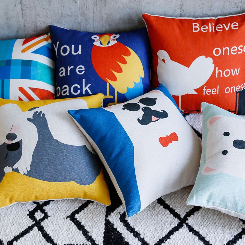 Find More Cushion Cover Information about Cartoon Cute Animal
