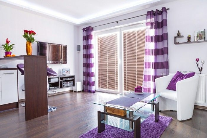 Purple Carpet Living Room Fashion Purple Striped Curtains Flowers Glamorous Carpet For Living Room Design Decoration