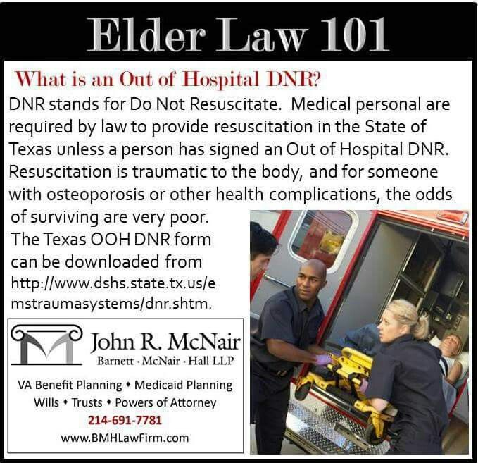 What Is An Out Of Hospital Dnr  Elder Law  Faqs