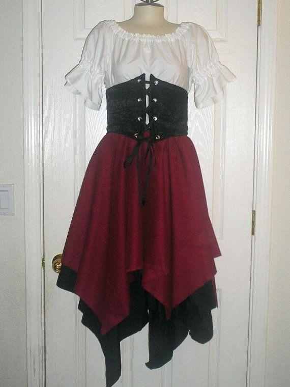 Lovely Romantic Full Costume With Drawstring by Cindyscornershop - romantic halloween ideas