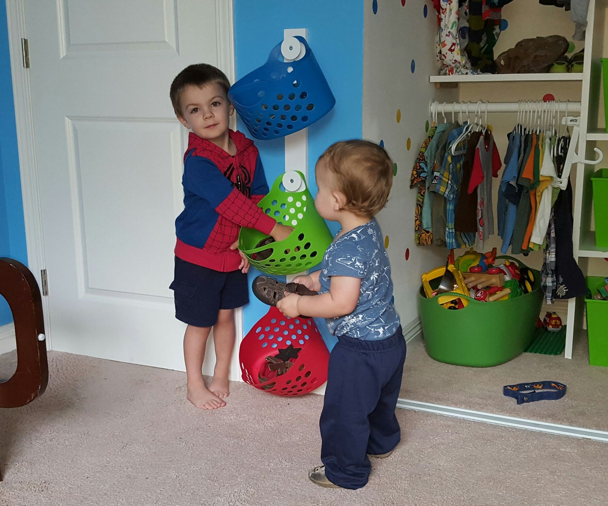 Kid-Safe Wall-Mounted Shoe Holder