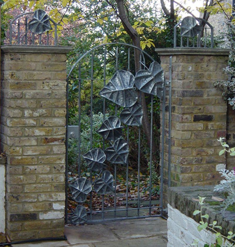 Wrought Iron Garden Gate BexSimon Leaf Garden Gate WOW!