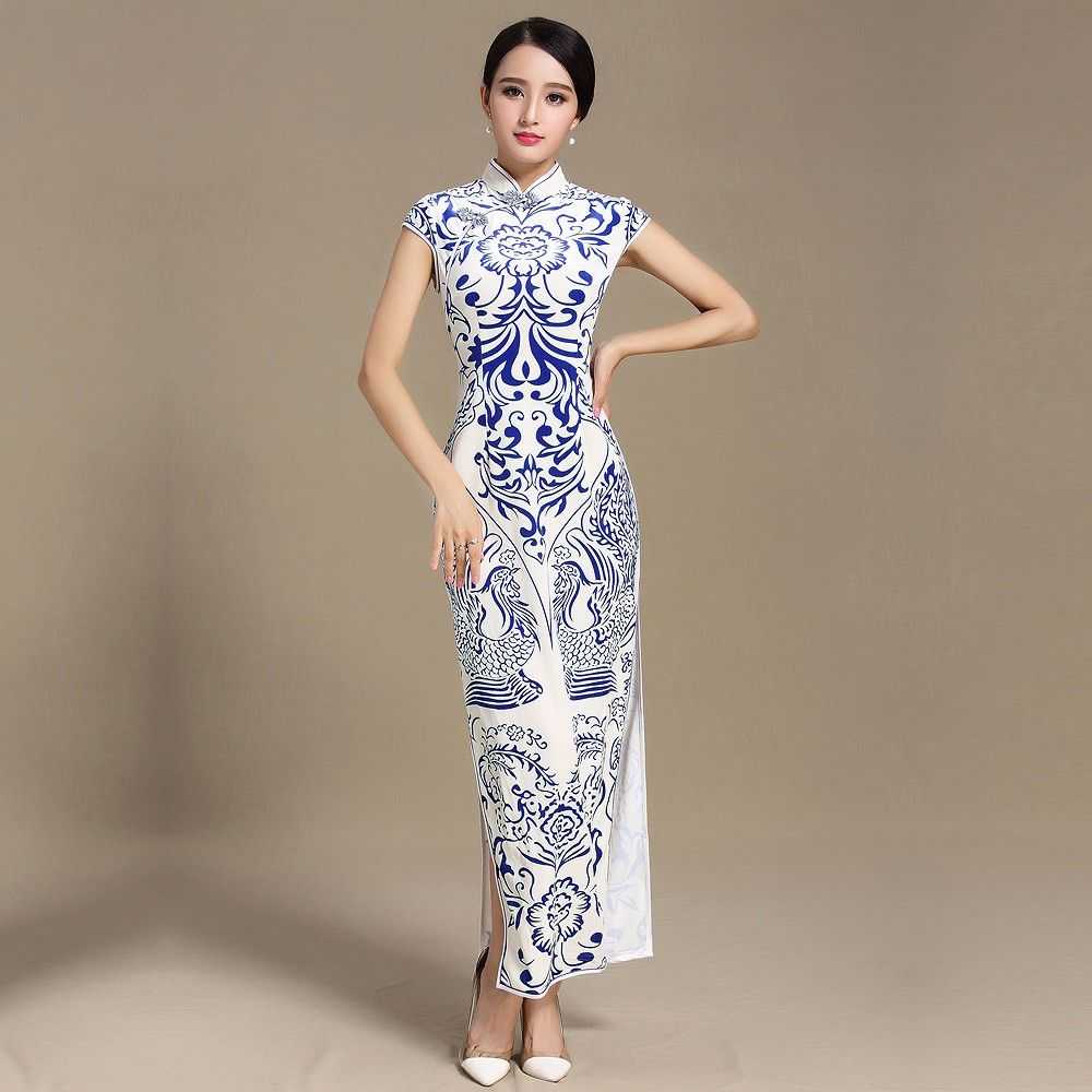 Fabulous Totem Print Velvet Cheongsam Qipao Chinese Dress Chinese Long Dress Chinese Style Dress Cheongsam Dress [ 1000 x 1000 Pixel ]