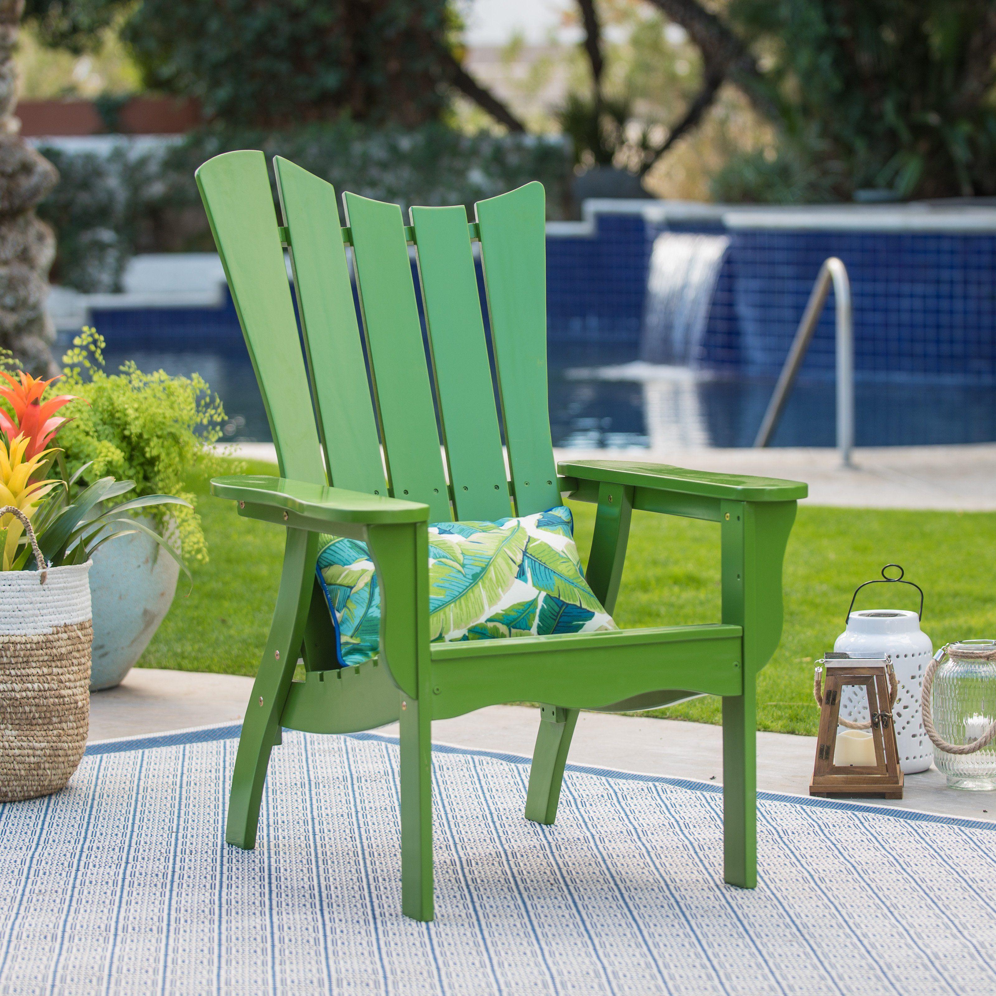 Outdoor belham living ocean wave adirondack chair green vfs