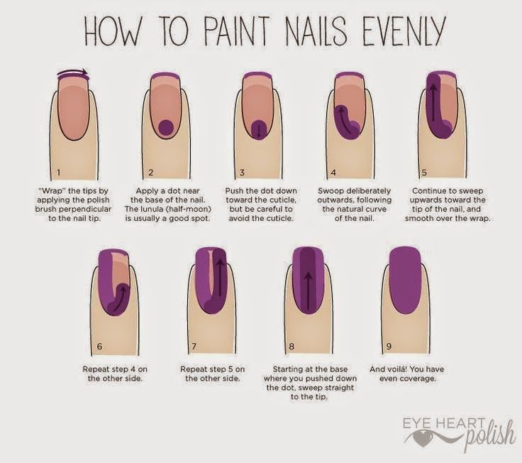 How To Paint Nails Evenly Crossdressing Howto Pinterest