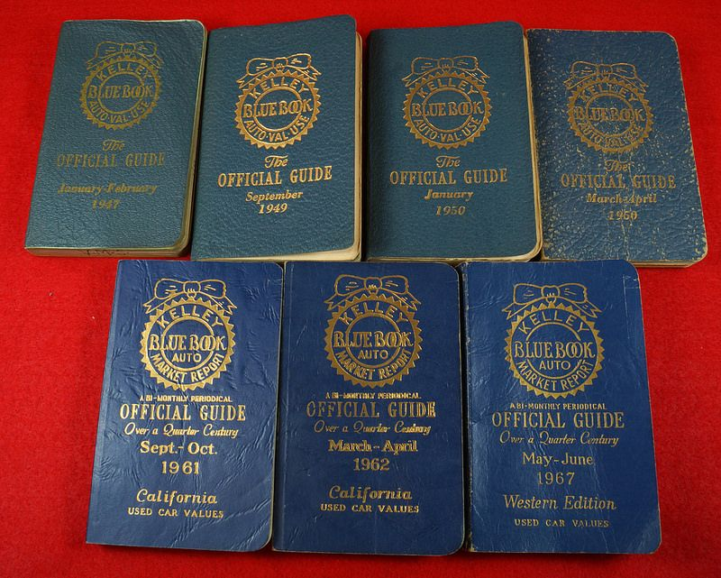7 #Vintage# Kelley Blue Book Value Guides 1947-1967 To see the Price ...