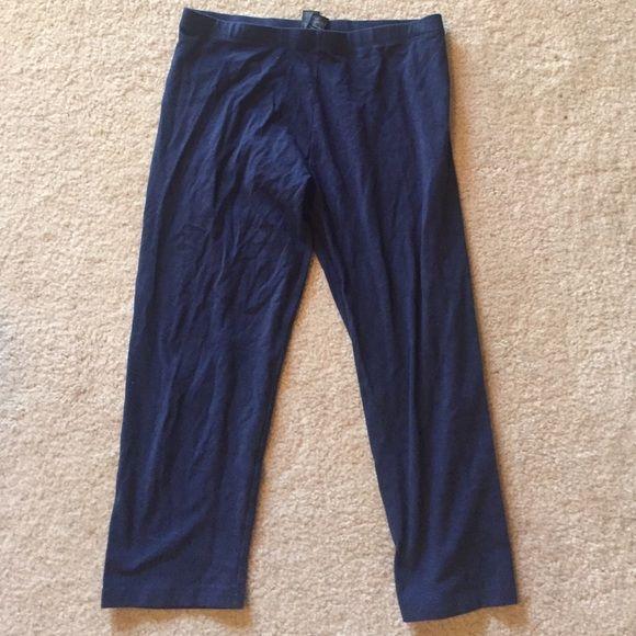 Navy blue cropped leggings pants | D, Forever 21 and Pants & leggings