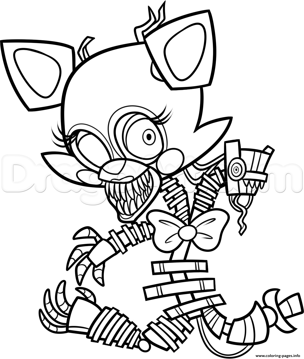 Print Freddy S At Five Nights 2 Fnaf Coloring Pages Doodles